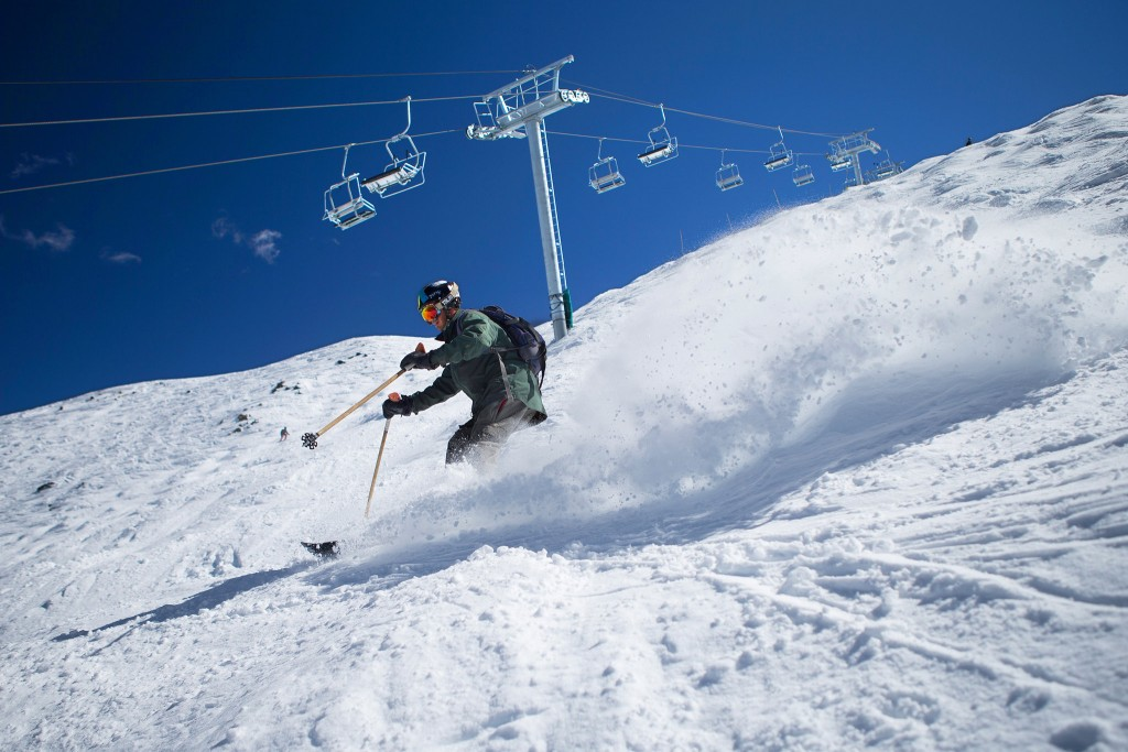 Skier near Kachina Peak Lift. Photo courtesy The New York Times